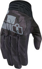 Icon Mens Black Leather/Textile Mesh Anthem Primary Motorcycle Gloves