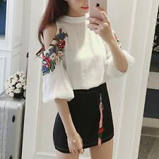 Korean Fashion Spring Summer Women Chiffon Shirt + Hip Skirt Two Pieces Dress
