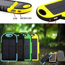 PORTABLE 5000MAH WATERPROOF SOLAR CHARGER POWER BANK FOR LG X power