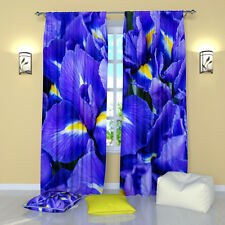 """Violet Delight Floral Window Curtains Panel (Set of 2), Polyester, 84"""""""