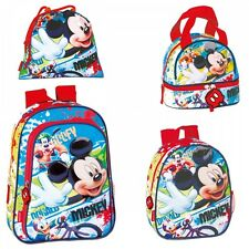 Disney Mickey Mouse Face Backpack Rucksack Lunch bag Travel School Holiday Bag