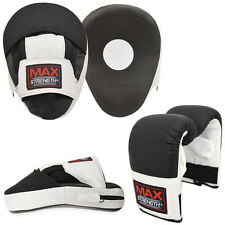 MAXSTRENGTH Focus Pads & Boxing Bag Punching Gloves MMA Trainer Set Kickboxing