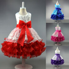 Pageant Kids Girls Princess Bubble Formal Party Evening Summer Holiday Dress New