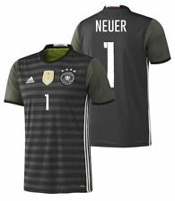 ADIDAS GERMANY EURO 2016 MANUEL NEUER AWAY JERSEY Dark Grey Heather.