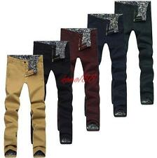 "New MENS cotton breath SKINNY SLIM FIT PANTS CASUAL TROUSERS BIG SIZE W28""-46"""