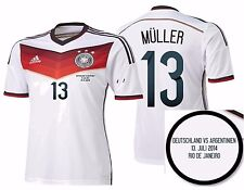 ADIDAS T. MULLER GERMANY AUTHENTIC FINAL GAME JERSEY FIFA WORLD CUP BRAZIL 2014