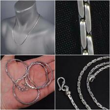 """SNAKE ROPE CHAIN MENS WOMENS NECKLACE 925 STERLING SILVER 18"""" 20"""" 22"""" 24"""" 26"""""""