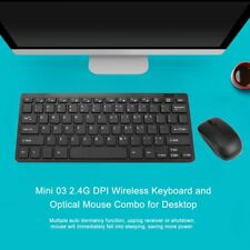 Mini Thin 2.4G Wireless Keyboard and Optical Mouse Combo Kit for Desktop lot XP