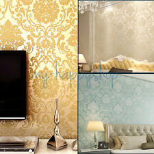 Deep Embossed Damask Pattern Damascus Wallpaper Wall Covering Paper Roll Texture
