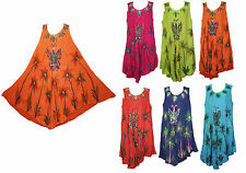 women dress tunic ladies indian summer beach top kaftan hippie boho party dress