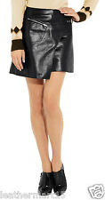 New Womens Mini Designer Skirt Genuine Soft Lambskin Leather Skirt For Women-09