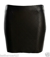 New Womens Mini Designer Skirt Genuine Soft Lambskin Leather Skirt For Women-14
