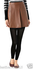 New Womens Mini Designer Skirt Genuine Soft Lambskin Leather Skirt For Women-10
