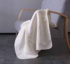 Blanket with Binding 100% pure Linen Throw Bedspread bedding set piping