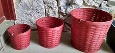 Longaberger 2015 Planter Sleeves Brick Red -  3 sizes - Ready to Ship **New**