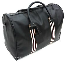 Leather Weekend Bag Travel Duffle Sports Cabin Gym PU Look Holdall Luggage New