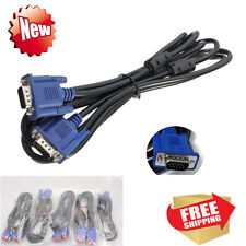 15Pin 6ft VGA SVGA Male to Male M/M Monitor Cable Cord for PC TV  Wholesale Lots