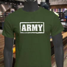 ARMY PRIDE ARMED FORCES MILITARY SOLDIER PROUD Mens Military Green T-Shirt