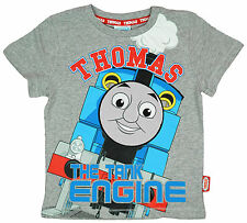 Boys Toddler Thomas The Tank Engine T-Shirt Cotton Top Grey 1 to 5 Years
