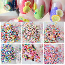 NEW 1000pcs Mixed Style Nail Art Fimo Polymer Clay Cane Nail Stickers DIY Decals