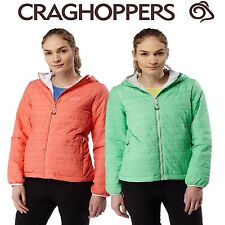 CRAGHOPPERS WOMENS COMPRESSLITE II JACKET GREEN OR BURNT PAPAYA CWN214