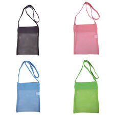 4Colors Beach Mesh Bag  Carry Strap Tote Organize Family Children Play Swim Toys