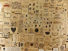 Stampin Up Rubber Stamps Wood Mount 1995 to 2007 Single Stamps U PICK