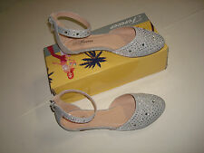 NEW WOMEN FASHION SHOES NEW  STYLE BALLET FLATS  COLOR SILVER  B-6 (SPRING SALE)
