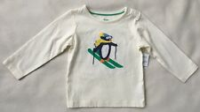 MINI BODEN BABY BODEN Arctic Animals Applique Shirt Penguin Ski NWT 3-6M 12-18M