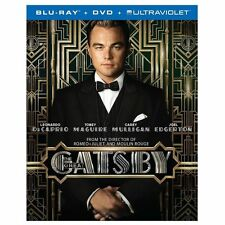 NEW The Great Gatsby (Blu-ray + DVD + Digital Copy, 2013, 2-Disc Set)