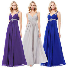 LADY Chiffon Bridesmaid Dress Celebrity Formal Gown Party Cocktail Evening Prom