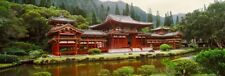 Facade of Byodo-In Temple Valley Of The Temples Oahu Hawaii USA Print (27 x 9)