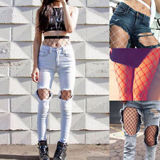 Women Sexy Hosiery Black Fishnet Elastic Thigh High Stockings Pantyhose Tights