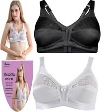 FIRM CONTROL SOFT SATIN CUP BRA UNPADDED NON WIRED FULL CUP SIZE 34B - 44D WOMEN