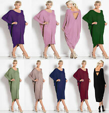 Womens Ladies Plus Size Long Cocktail Backless Summer Midi Dress Baggy New 8-26