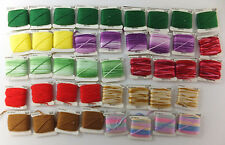 J P Coats Large Lot Mixed Skeins Standard Cross Stitch Embroidery Floss 43 Units