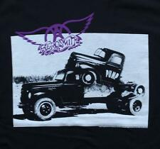 Aerosmith Band Truck Pump Classic Rock Band Licensed Concert Tour Adult T-Shirt