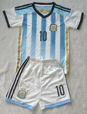 WORLD CUP NO.10 MESSI BOYS ARG HOME football SOCCER kit SHIRT 3-14 years