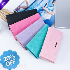 Women Leather Purse Envelope Wallet Clutch Long Card Holder Handbag Coin Bag