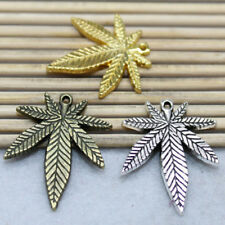 10/30pcs Antique silver fashion cute Retro Style maple leaf Charm pendant
