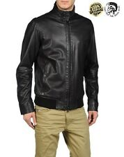 New Men's Diesel Leather Jacket Diesel LERMES 900 Sheep Leather jacket RRP£600