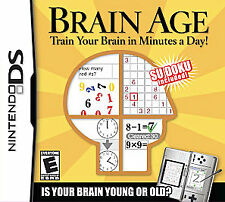 Nintendo DS Brain Age: Train Your Brain in Minutes a Day! Video Games COMPLETE