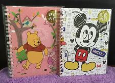Disney Mickey Mouse Minnie Winnie The Pooh Note Books Diary Journal Travel Gift