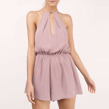 Sexy Women's Pleated Halter Romper Summer Beach Party Jumpsuit Playsuit Shorts