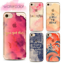 Soft TPU Elegant Soft Back Simple Watercolor Cover Case For 6s 5s 7 Plus SE