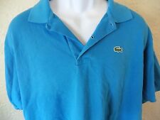 Lacoste mens XXL 8 blue short sleeve polo croc logo shirt spring summer