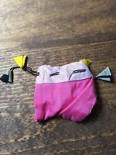 Jewelry Bag-Drawstring-Pink-Purple-Yellow-Black-White-Square-Triangle Tossles