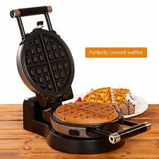 Secura 360 Rotating Belgian Electric Waffle Maker w/ Removable Non-Stick Plates