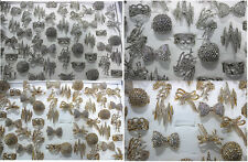 Mixed Lots 25pcs Crystal Rhinestone Silver/Gold Plated Charm Huge Vintage Rings