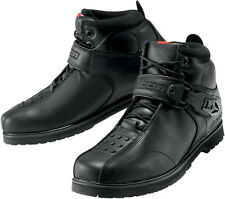 Icon Mens Black Super Duty 4 Motorcycle Boots